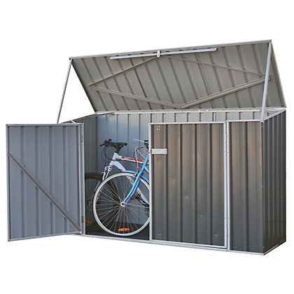 absco metal bike shed grey. Black Bedroom Furniture Sets. Home Design Ideas