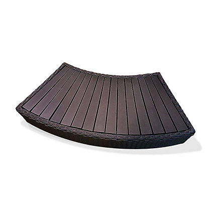 Image for Canadian Spa Rattan Curved Step for Round Spa from StoreName