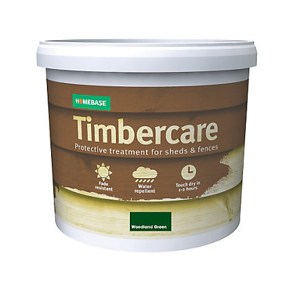 Image for Homebase Timbercare Woodland Green - 5L from StoreName