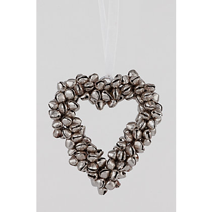 Image for Small Jingle Bell Heart Tree Decoration from StoreName