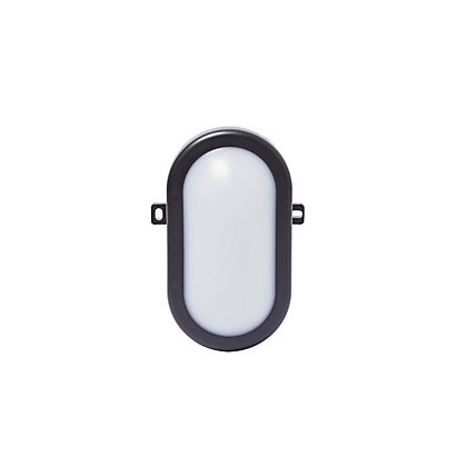 Image for Black Oval Integrated LED Bulkhead Light from StoreName