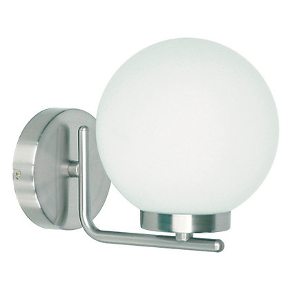 Image for Hewitt Curved Arm Globe Bathroom Light from StoreName