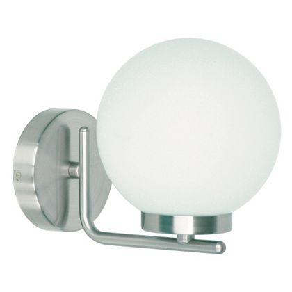 Hewitt Curved Arm Globe Bathroom Light