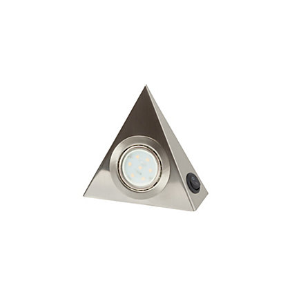 Image for Brushed Chrome Under Cabinet Lights - 3 pack from StoreName