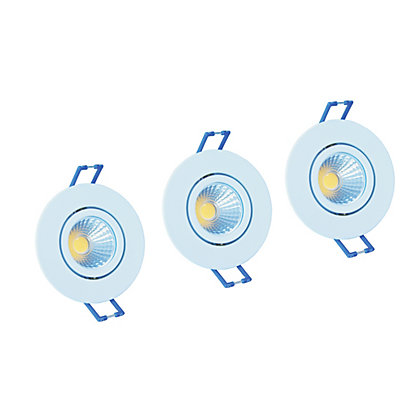 Image for Integrated LED Directional White Downlights - 3 pack from StoreName