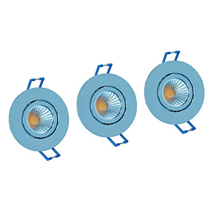 Image for Integrated LED Directional Bright Chrome Downlights - 3 pack from StoreName
