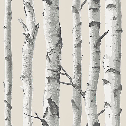 Image for Nu Peel & Stick Wallpaper Birch Trees from StoreName