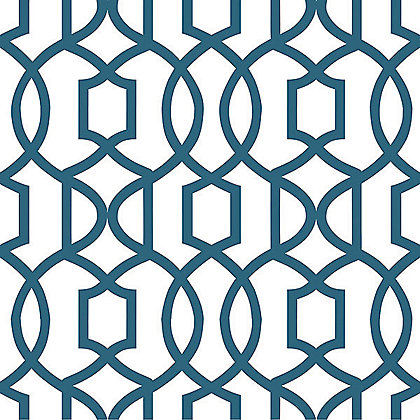 Image for Nu Peel & Stick Wallpaper Grand Trellis Navy from StoreName