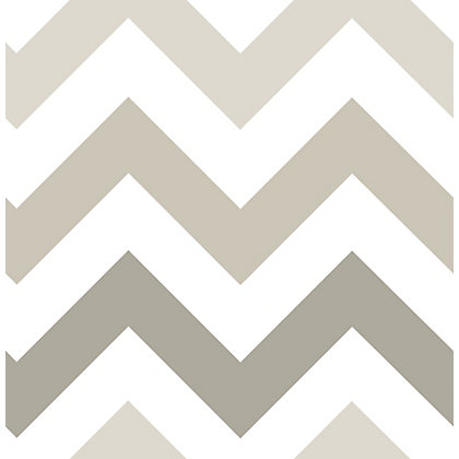 Image for Nu Peel & Stick Wallpaper Zig Zag Taupe from StoreName