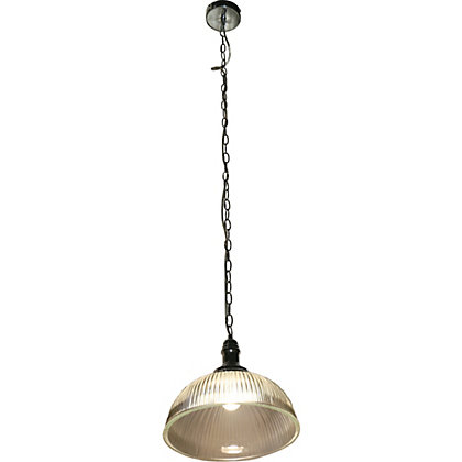 Image for Phebe Ribbed Glass Dinning Pendant  Light from StoreName
