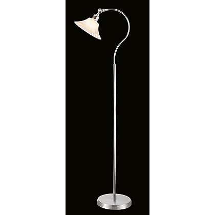 Image for Traditional Ribbed Glass Floor Lamp from StoreName