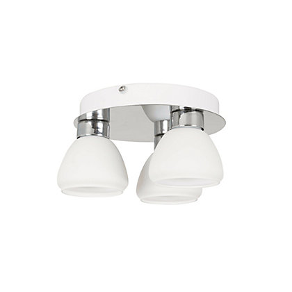 Image for Hedley Glass 3Lt Bathroom Flush Light from StoreName