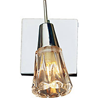 Terry Ribbed Chunky Glass Single Spotlight