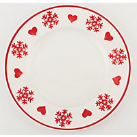 Heart and Snowflake Dinner Plate
