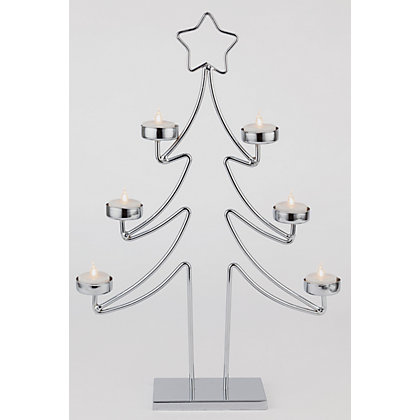 Image for Metal Christmas Tree Tealight Holder from StoreName