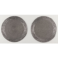 Silver Beaded Placemat Set of 2