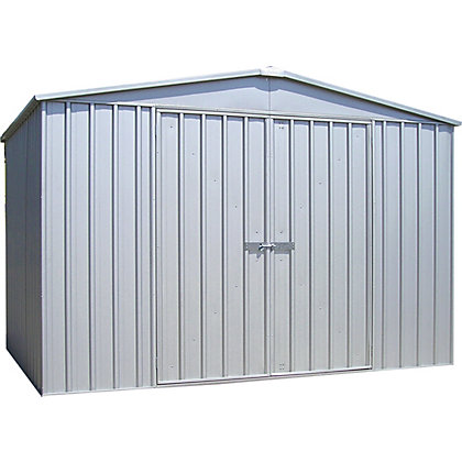 Image for Absco Regent Metal Garden Shed - Zincalume from StoreName