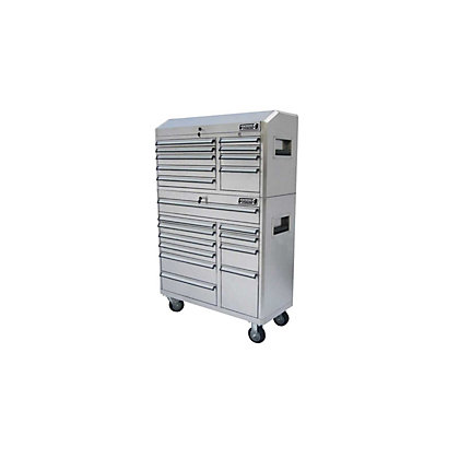 Image for Kincrome Stainless Steel 41inch Workshop Chest and Trolley Combo Set from StoreName