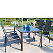 Tempo Aluminium 4 Seater Stacking Garden Furniture Set - Grey