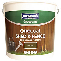 Johnstones One Coat Shed and Fence Woodcare Dark Oak - 9L