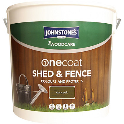 Image for Johnstones One Coat Shed and Fence Woodcare Dark Oak - 9L from StoreName