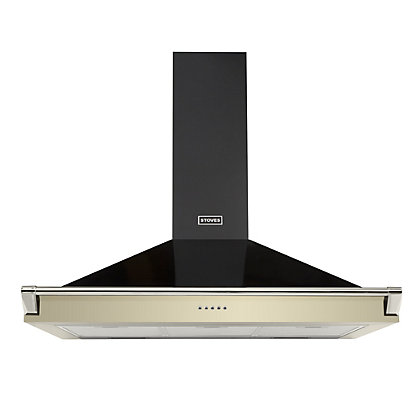 Image for Stoves Richmond 900 Chimney Hood with Rail - 90cm - Champagne from StoreName
