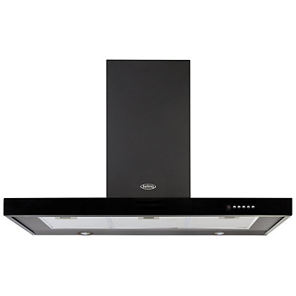 Image for Belling 100cm 444443456 DB Flat Cooker Hood - Black from StoreName