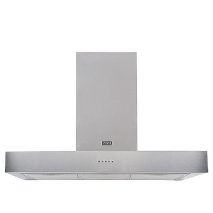 Image for Stoves Sterling 1000 Flat Chimney Hood - 100cm - Stainless Steel from StoreName