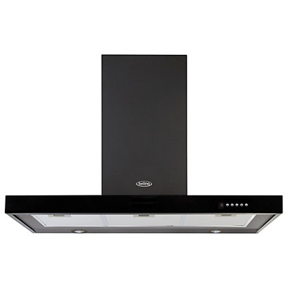 Image for Belling 444443455 DB Flat Hood - 90cm - Black from StoreName