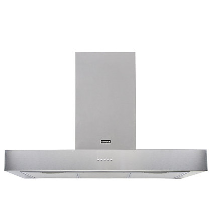 Image for Stoves Sterling 1100 Flat Chimney Hood - 110cm - Stainless Steel from StoreName