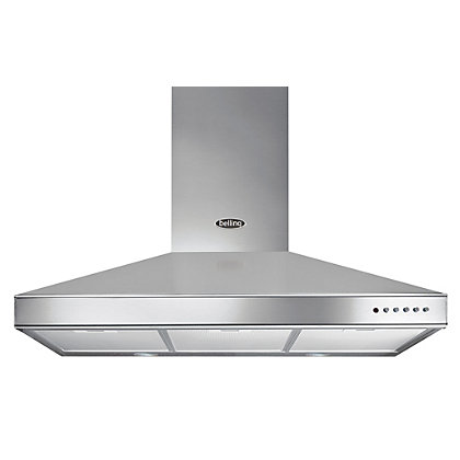 Image for Belling 444443452 Chimney Hood - 90cm - Stainless Steel from StoreName