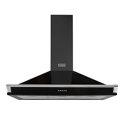Image for Stoves S900 Richmond Chimney Hood with Rail - 90cm - Black from StoreName