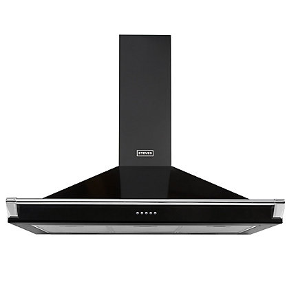 Image for Stoves S900 100cm Richmond Black Chimney Hood with Rail from StoreName