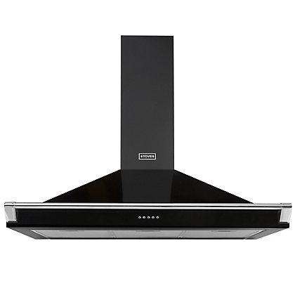 Image for Stoves S1100 Richmond Chimney Hood with Rail - Black from StoreName