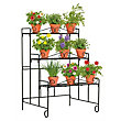 Metal 3 Tier Wall Plant Stand