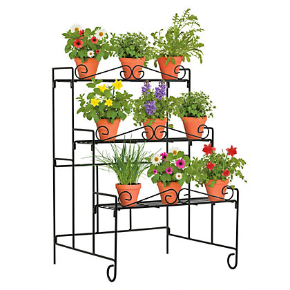 Image for Metal 3 Tier Wall Plant Stand from StoreName