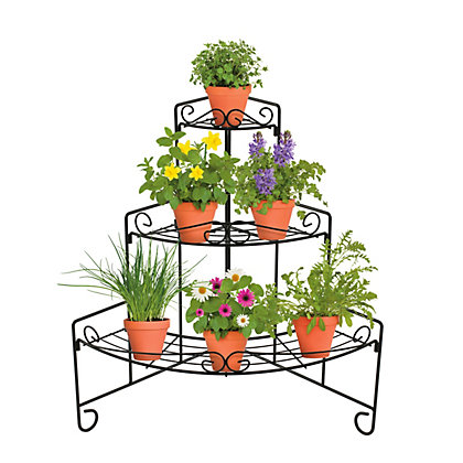 Image for Metal 3 Tier Corner Plant Stand from StoreName
