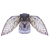 Prowling Owl Plastic Garden Ornament