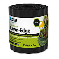 Green Plastic Lawn Edging - 150mmx6m