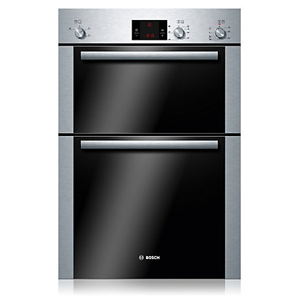 Image for Bosch HBM13B251B Built-in Double Oven - Stainless Steel from StoreName