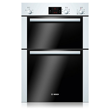 Image for Bosch HBM13B221B Double Oven - White from StoreName