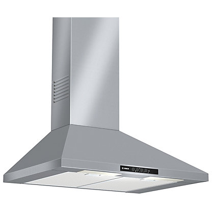 Image for Bosch DWW07W450B Pyramidal Chimney Hood - 70cm - Brushed Steel from StoreName