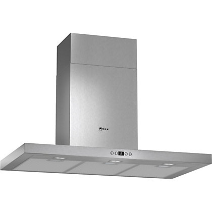 Image for Neff D79SH52N0B Box Design Chimney Hood -90cm - Stainless Steel from StoreName