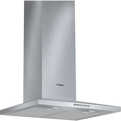 Image for Bosch DWW067A50B Pyramidal Chimney Hood - Brushed Steel - 60cm Wide from StoreName
