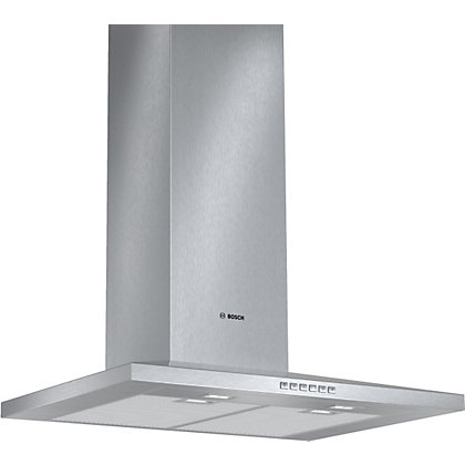 Image for Bosch DWW077A50B Pyramidal Chimney Hood - Brushed Steel - 70cm Wide from StoreName