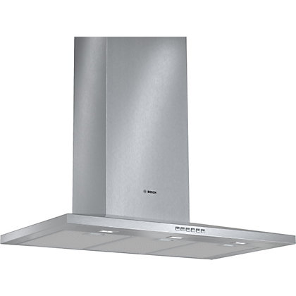 Image for Bosch DWW097A50B Pyramidal Chimney Hood - 90cm - Brushed Steel from StoreName