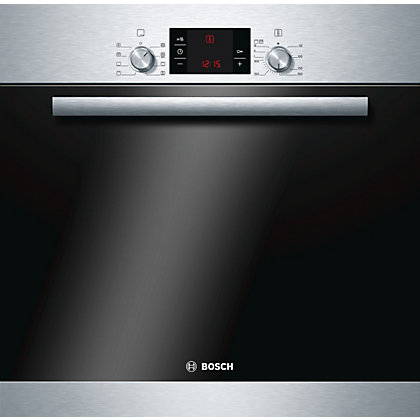 Image for Bosch HBA63B150B Single Pyrolytic Oven - Stainless Steel from StoreName