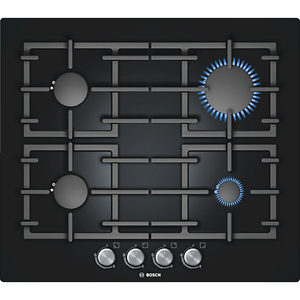 Image for Bosch PPP616B91E Gas on Glass Hob - Black from StoreName