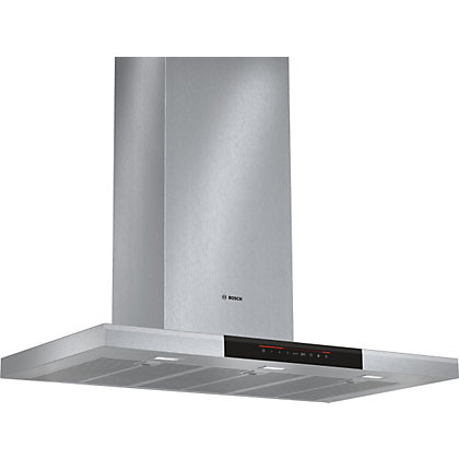 Image for Bosch DWB098J50B Flat Chimney Hood - 90cm - Brushed Steel from StoreName