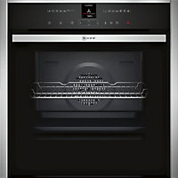Neff B47VR32N0B Slide & Hide Single Multifunction Oven - Black Glass & Stainless Steel
